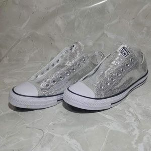 Converse All Star Ox Silver Unisex Sneakers 10/12